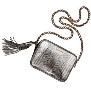 Victoria's Secret faux snakeskin crossbody bag